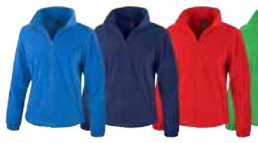 Fleece Jacke Ladies (Rot, S)