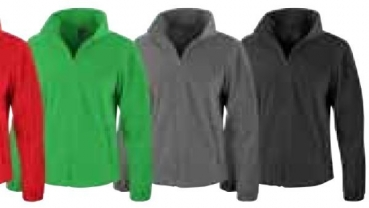 Fleece Jacke Ladies (Anthrazit grau, XXL)