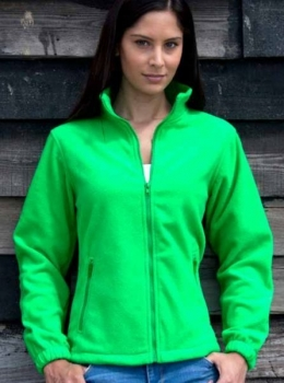 Fleece Jacke Ladies (Grün, S)